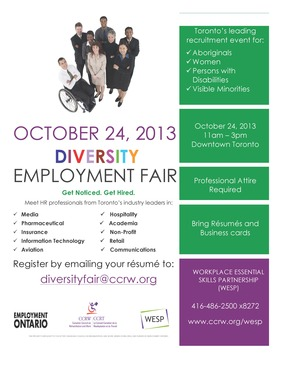 Diversity Employment Fair Flyer