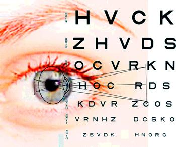 eye and chart