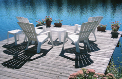 Muskoka Chairs on Dock