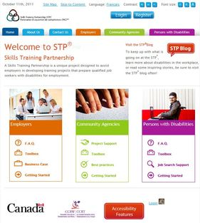 STP Website home page