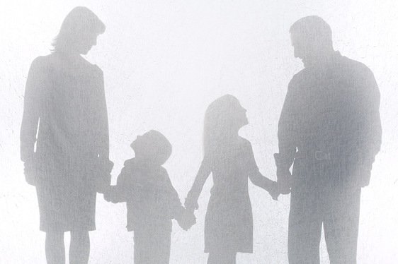 Family in Sillouette