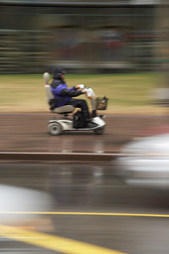 Very fast wheelchair